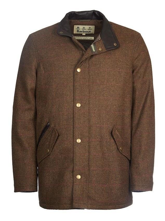 Barbour Wimbrel Wool Tweed Jacket Olive Red