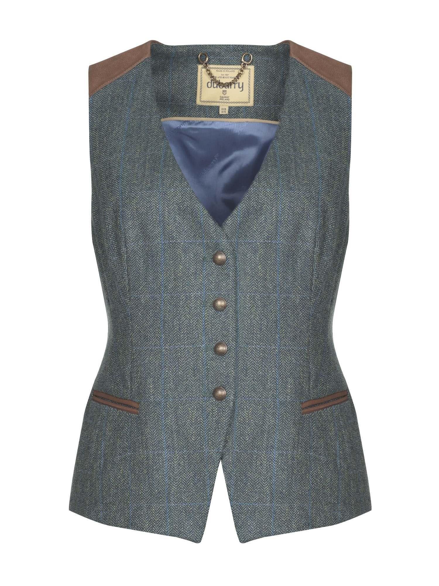 Dubarry Daisy Fitted Tweed Waistcoat Mist