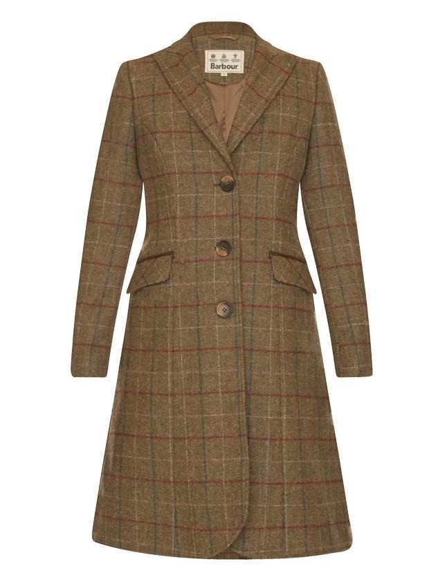 Barbour Swaledale Covert Tweed Ladies Coat Olive