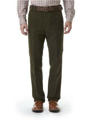 Barbour Traditional Fit Moleskin Trousers Olive