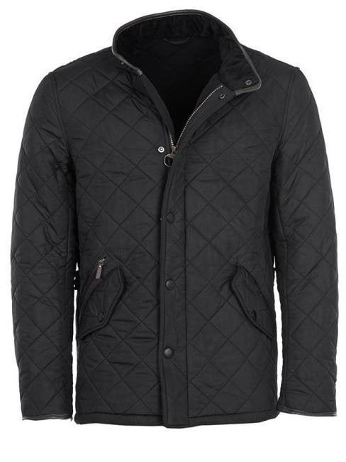 Barbour Mens Powell Quilted Jacket Black