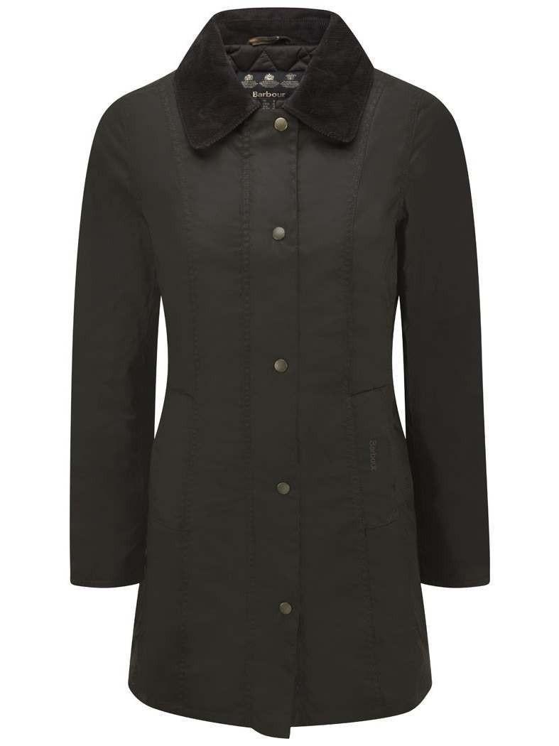 Barbour Belsay Waxed Ladies Jacket Olive