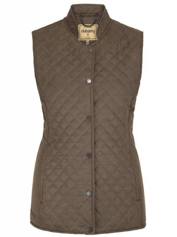 Dubarry Wilde Ladies Quilted Gilet Olive