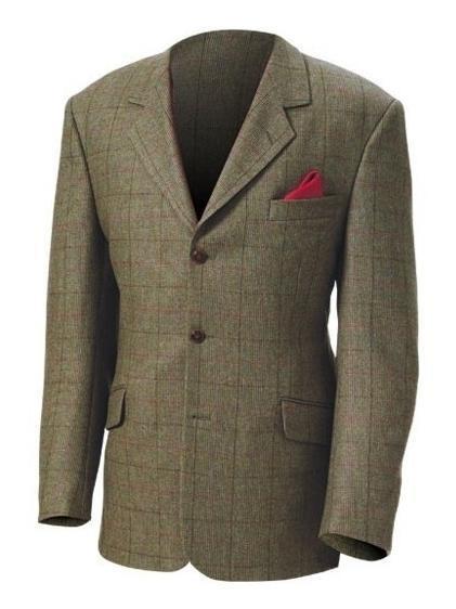 Laksen Salisburg Pure Wool Tweed Sports Jacket Green