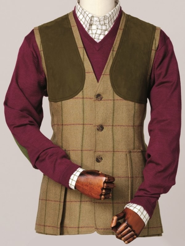 Laksen Men S Glennan Tweed Shooting Vest