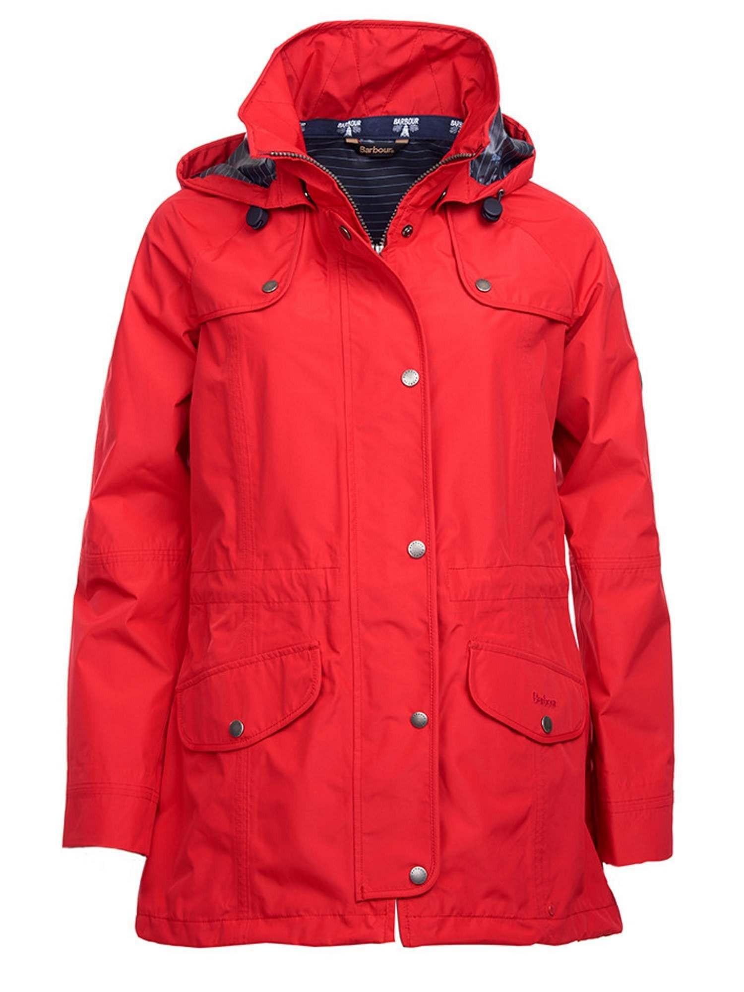Barbour Ladies Trevose Waterproof Jacket Red