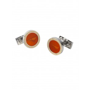 Laksen Cuff Links Pheasant Terracotta