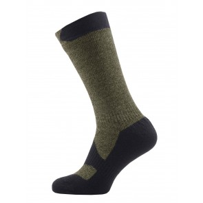 SealSkinz Walking Thin Mid Olive/Charcoal Socks