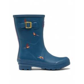 Joules Molly Welly Teal Pheasant