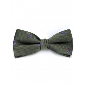 Laksen Sitting Pheasant Olive Bow Tie