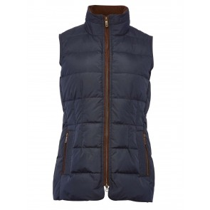 Dubarry Women's Spiddal Down-Filled Gilet Navy Multi