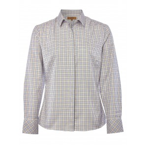 Dubarry Meadow Classic Tattersall Shirt Pink Multi