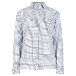 Dubarry Meadow Classic Tattersall Shirt Blue Multi