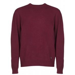 Dubarry Maguire Men's Classic Crew Neck Sweater Malbec