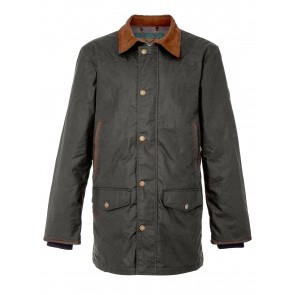 Dubarry Headford Men's Waxed Cotton Jacket Olive