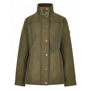 Dubarry Mountrath Ladies Waxed Cotton Jacket Dusky Green