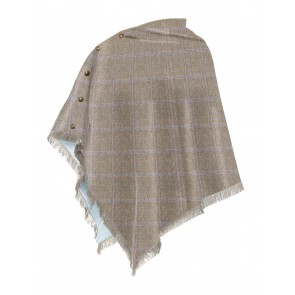 Dubarry Hazelwood Tweed Poncho Woodrose