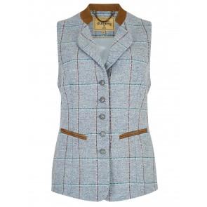 Dubarry Spindle Tweed Waistcoat Blue Heather