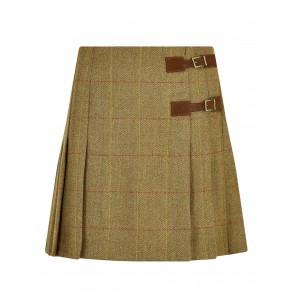Dubarry Blossom Pleated Tweed Skirt Elm