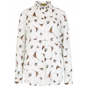 Dubarry Briarrose Pheasant Print Shirt Cream Multi