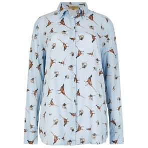 Dubarry Briarrose Pheasant Print Shirt Blue Multi