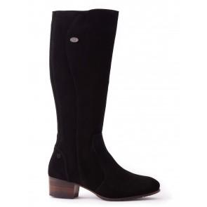 Dubarry Downpatrick Knee High Boots Black Suede