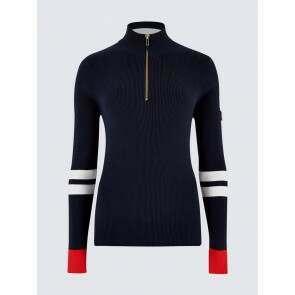 Dubarry Barleycove Zip Neck Sweater Navy