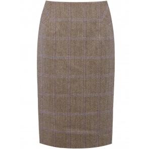 Dubarry Fern Knee Length Tweed Skirt Woodrose