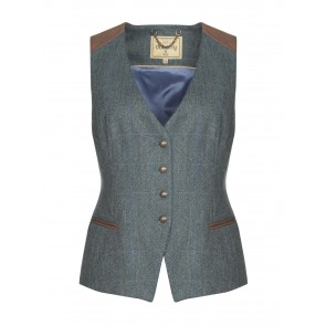Dubarry Daisy Fitted Tweed Waistcoat Mist