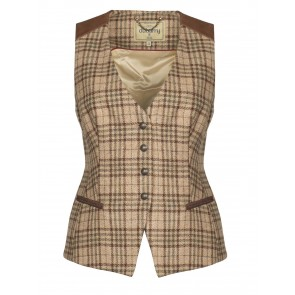 Dubarry Daisy Fitted Tweed Waistocat Pebble