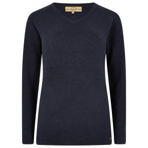 Dubarry Slievebloom V-Neck Sweater Navy