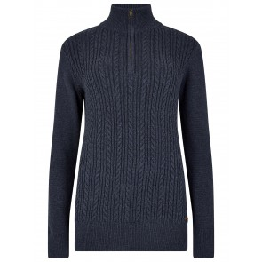 Dubarry Garvey Half Zip Sweater French Navy
