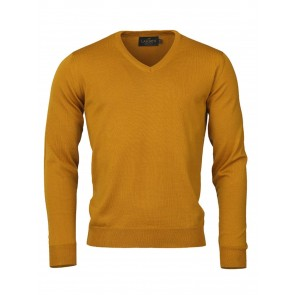 Laksen Sussex V-Neck Sweater Gorse