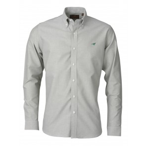 Laksen Harvard Oxford Shirt Herb Green