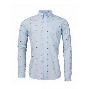 Laksen High & Wide Pheasant Shirt Light Blue