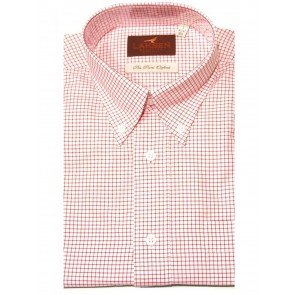 Laksen Moore Pin Point Shirt Brick Red
