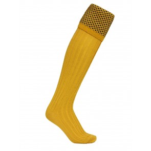 Laksen Empire Shooting Socks Gorse/Navy
