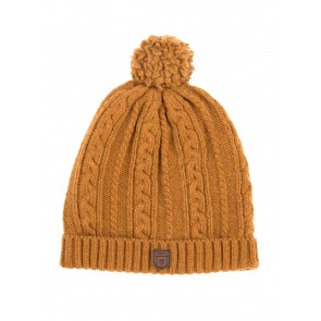 Dubarry Keadue Knitted Bobble Hat Mustard