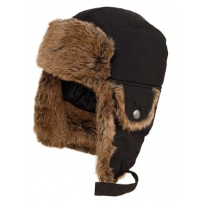 Aigle Snuggy Trapper Hat Black