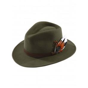 Alan Paine Richmond Men's Felt Hat Olive