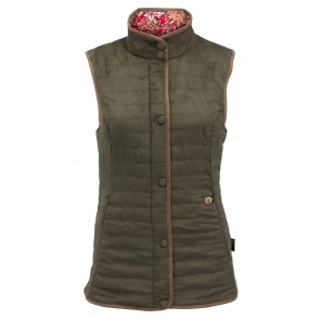 Alan Paine Felwell Ladies Quilted Waistcoat Dark Olive