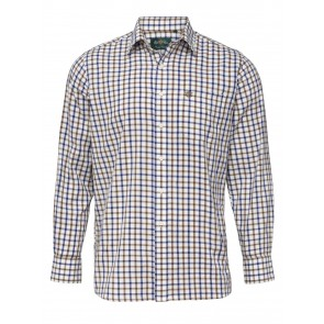 Alan Paine Ilkley Kids Shirt Brown/Blue Check