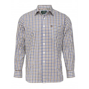 Alan Paine Ilkley Men's Shirt Brown Check