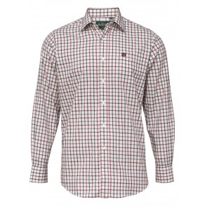 Alan Paine Ilkley Men's Shirt Red Check