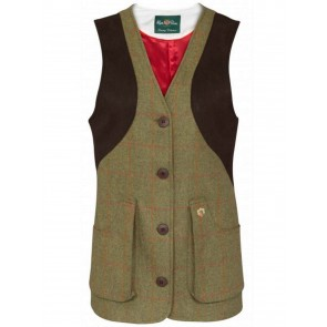 Alan Paine Richmond Ladies Tweed Field Shooting Waistcoat Classic Fit