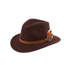 Alan Paine Richmond Unisex Felt Hat Brown