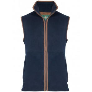 Alan Paine Aylsham Kids Fleece Waistcoat Navy