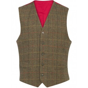 Alan Paine Combrook Lined Back Waistcoat Peat