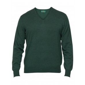 Alan Paine Millbreck Merino V Neck Hunter Green