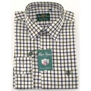 Alan Paine Ilkley Boys Shirt Olive Check